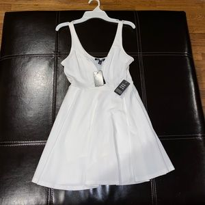 White Express fit and flare skort dress